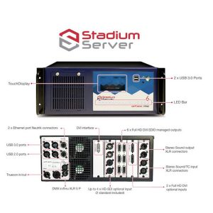 Stadium Server - Preloaded With Media Master Pro, And 6 Outputs, 2  X Sdi (Standard)