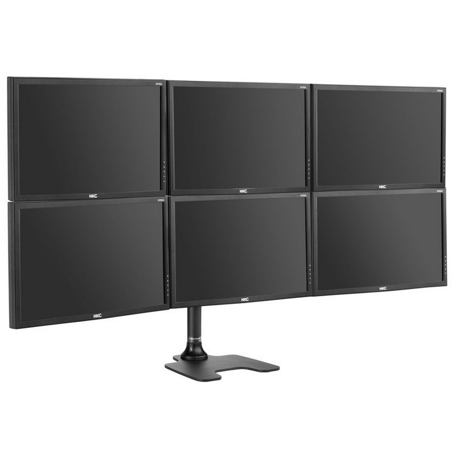 Six display desk mount